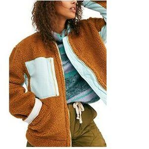 Free People Women's Rivington Faux Sherpa Jacket L